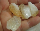4 Small Citrine Crystal Shards, Natural Crystal Pieces, Wire Wrapping,  Prosperity, Happiness, Good Fortune