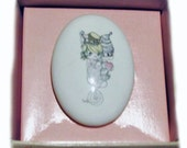 Vintage Enesco Precious Moments Porcelain Valentine Pin Brand New, Vintage, Pin, Valentine