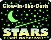 Glow in the Dark Stars & Moon for Kids Bedroom / Ceiling Stars / Glow Stars /Stars for Ceiling / Ceiling Art /