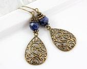 Boho Style Sodalite Earrings