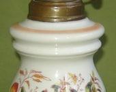 ANTIQUE Old Vintage PORCELAIN Oil kEROSENE lamp  Paris FRANCE