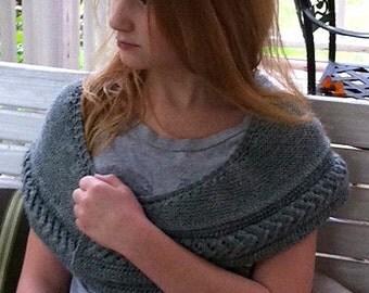 Knitting Pattern Shawl Shawlette PDF Instant Download 'Dry Falls'