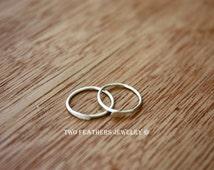 Sterling Silver Hoop Earrings - Tiny Silver Hoops - Small Hoop Earrings - Sterling Hoops - Minimalist Jewelry - Modern Silver Jewelry