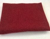 Wool Fabric for Rug Hooking and Applique, Garnet Red Herringbone, Select-a-Size, J902