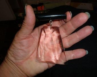 clear lucite acrylic judith hendler chandelier bar pin rare