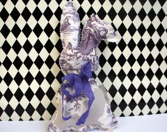 Purple & White Toile Bunny Rabbit