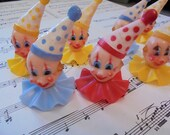 Fun vintage clown cake toppers