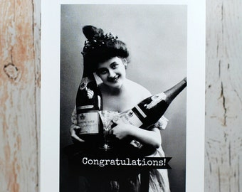 Blank Greeting Card - #227 - Congratulations Champagne