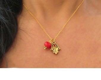 Hamsa necklace, Hamsa charm necklace, Hamsa charm, evil eye charm, evil eye necklace, Hamsa hand, Hamsa jewelry, Judaica jewelry
