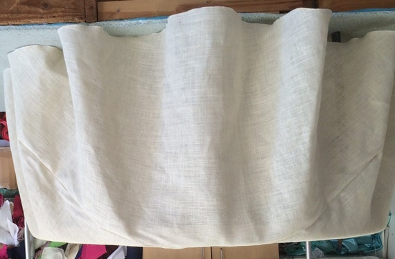 Custom Made 120 Inches Round White Burlap Tablecloth