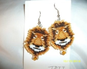 The Lion of Madagascar Earrings