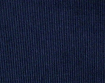 Navy Blue Thick Corduroy Fabric by the Yard (100% COTTON)