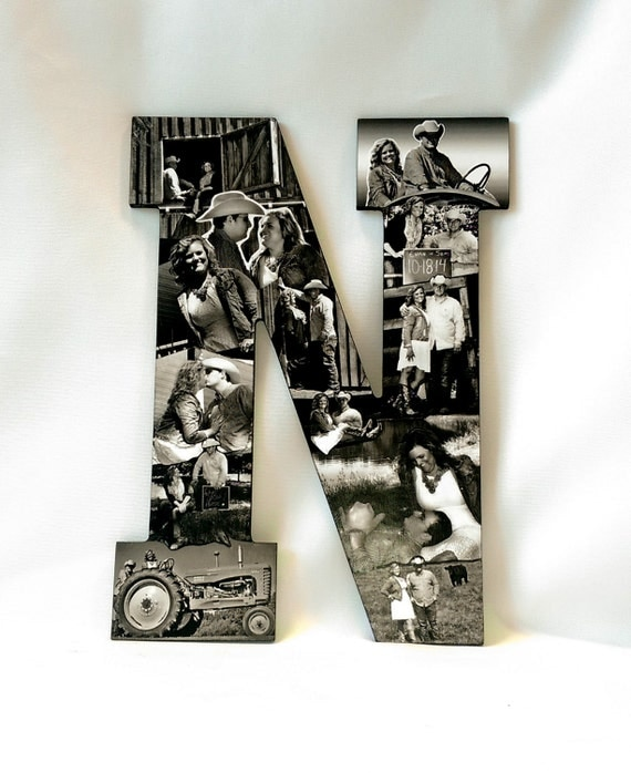 photo letter collage farm theme country wedding photo collage barn collage tractor