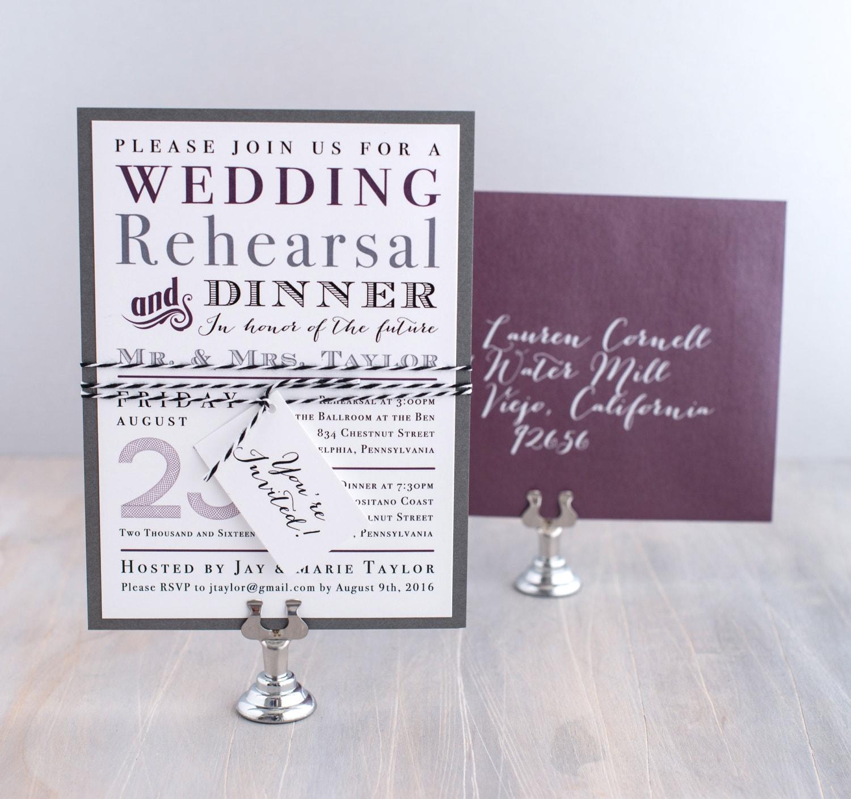 Wedding Rehearsal Dinner Invitations Rehearsal Dinner Invite