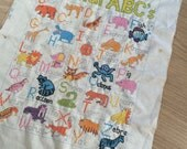 Animal ABC's almost finished needlework