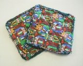Christmas Nutcracker Soldiers - Pair of Quilted Fabric Pot Holders