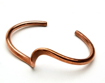 Twisted Copper Wire Fabricated Cuff Bracelet