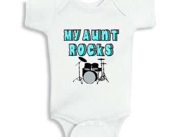 My aunt Rocks baby bodysuit - Drummer