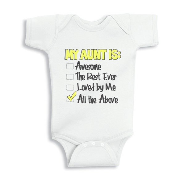 Only The Best Sisters Get Promoted To Aunt - Onesies. Great shower gifts. These Onesies® are super cozy, and feature a two or three-snap bottom closure for quick and easy changing.