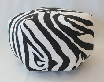 "Ready to Ship - 18"" Ottoman Pouf Floor Pillow Zebra"