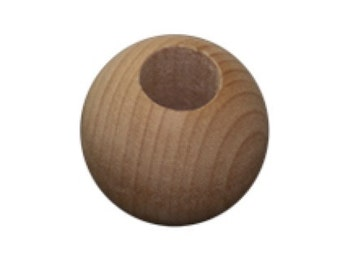 "SALE- 9 Wooden Round Beads 22mm (7/8"")"