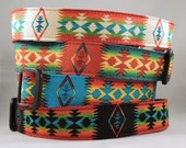 Dog  Collar - Dog, Martingale or Cat Collar - All Sizes - Tucson Aztec