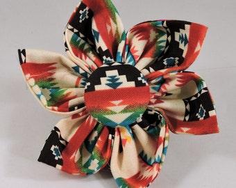 Dog Flower, Dog Bow Tie, Cat Flower, Cat Bow Tie - Tucson Aztec - Cream