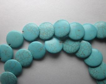 Flat Magnesite Beads 22mm 8 Beads