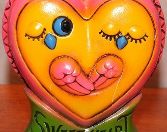 Vintage Sweet Heart Love Birds Bank