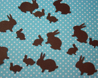 200 Chocolate Bunny Confetti / Scrapbooking Embellishments/ Paper Punch