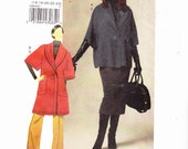 Vogue 8605 Misses Jacket With Shawl Collar and Dolman Sleeves, Skirt and Pants uncut Pattern