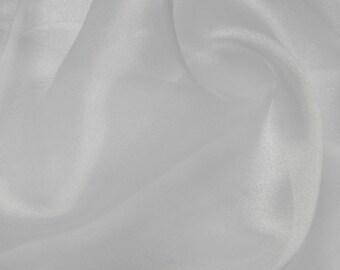 White Shiny Organza Fabric - No Shipping Cost