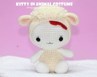INSTANT DOWNLOAD PDF Pattern: Kitty in Sheep Costume/ Chinese Zodiac  Sheep