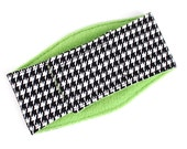 Leak Proof Belly Band for male Dogs Stop Marking Inside houndstooth print with Green
