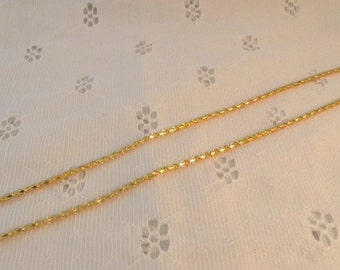 """Gold Filled 22"""" Twinkling 18Kt Chain"""