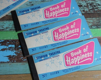 1 Vintage 'Book of Happiness' Tickets
