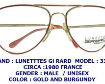 girard eyeglasses / lunette girard /men vintage  eyewear / pilot eyewear /gold men eyewear/girard eyewear/ men eyeglasses,over size eyewear.