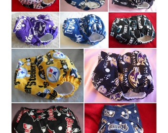 Choose your custom NFL OS pocket diaper or OS cover. Made to order.