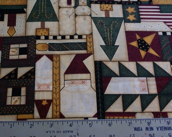"""2 Yards x 44"""" Wide Christmas Cotton Print Leslie Beck for VIP Fabrics Cranston Print Works Co."""