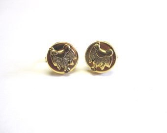 Saddle Cuff Links Western Cufflinks Gold Rodeo