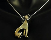 Sterling Silver Greyhound Necklace - Woogie