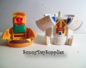 McDonalds Happy Meal Toys, Robots, Changeables, Junior Cheese Burger and Shake, 2 in Lot, Vintage Food Toys, Gifts For Kids