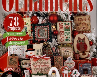 Just Cross Stitch Magazine: Christmas Ornaments 2012 - Annual Holiday Issue