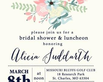 Love in Bloom Invitation, Bridal Shower Invitation, Bridal Shower, Flower Invitation, Made to Match