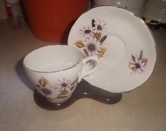 vintage marlborough bone china cup saucer set coffee tea