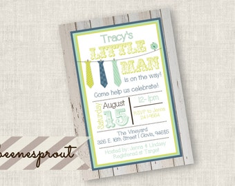 Tripple Tie Baby Shower Invitation