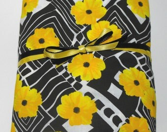 Yellow Flowers Fitted Toddler or Crib Mattress Sheet