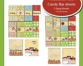 Mini Candy bar wrapper set