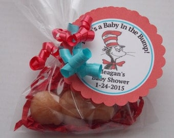 10 BABY BUMP Soap {With Tags & Ribbons} Favors - Dr Seuss Baby Shower, Dr Seuss Baby In The Bump, Newborn Sleeping Baby