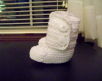 Crocheted Baby Uggs Type Boots